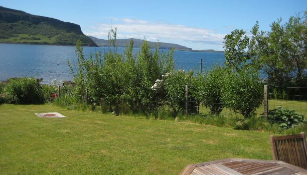 View from the garden of our self-catering cottage, Skye